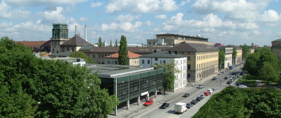 A panoramic view of the TUM main buildings